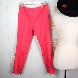 Tory Burch Coral Capri Cropped Ankle Grazer Pants